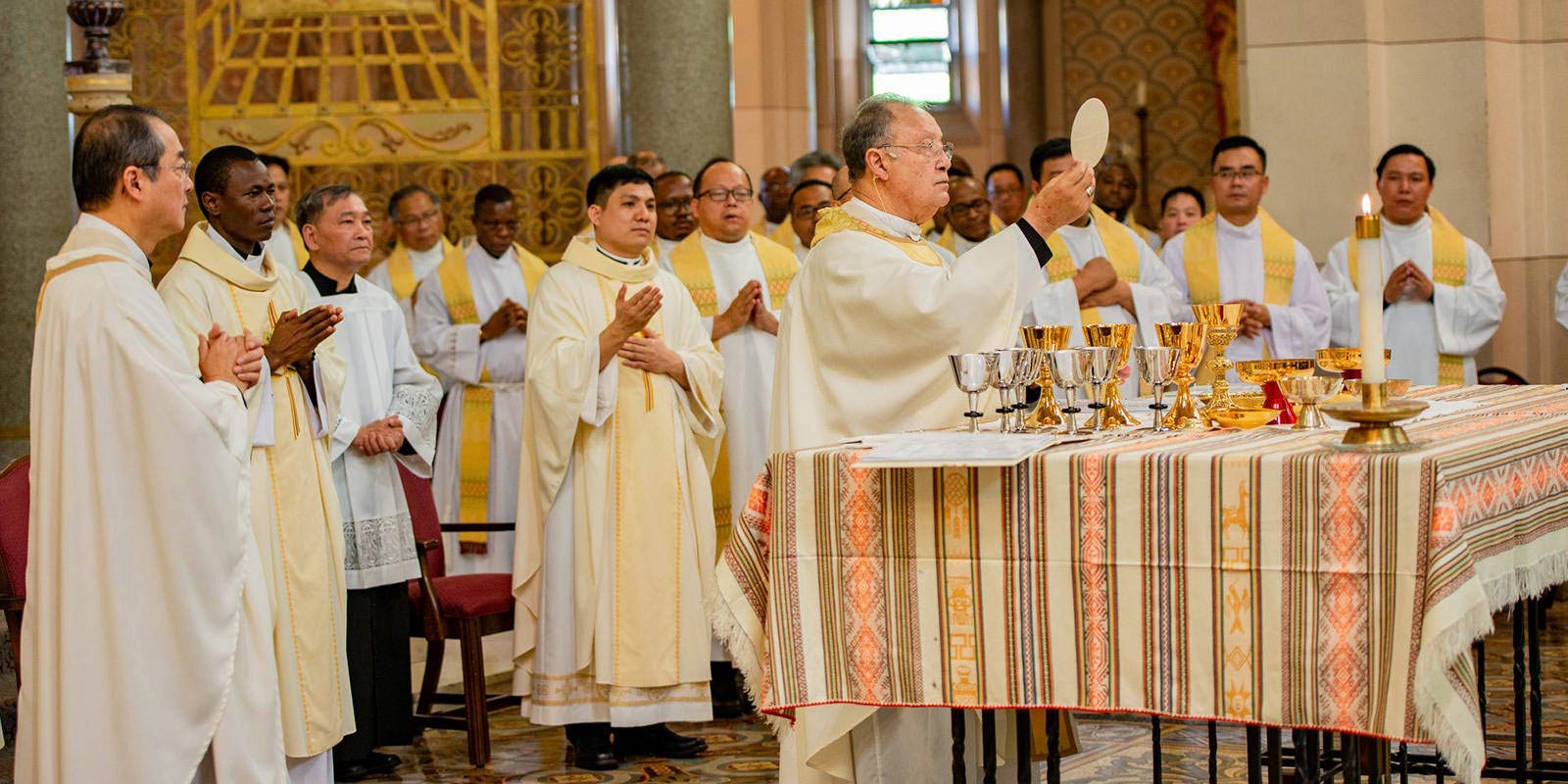 Priests of the Society of the Divine Word celebrate mass in Techny, Illinois