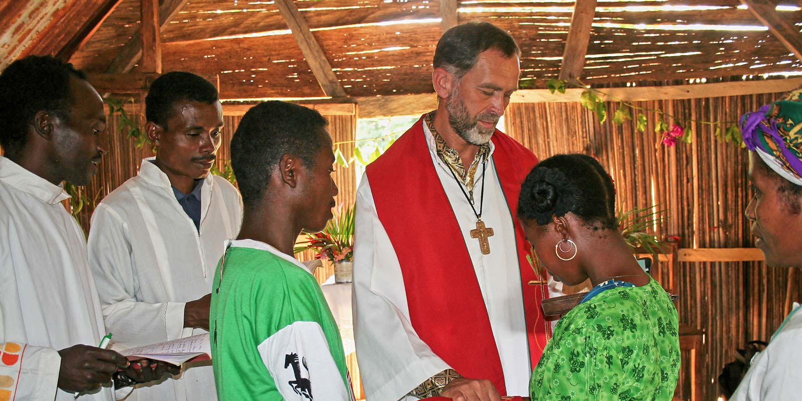 Father Czeslaw Sadecki performs wedding ceremony in Madagascar - Society of the Divine Word Chicago Province