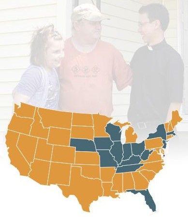 Lugares onde trabalham os Missionários do Verbo Divino de Província de Chicago